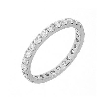 18 kt white gold eternity full with 27 diamonds 1A895W854-1