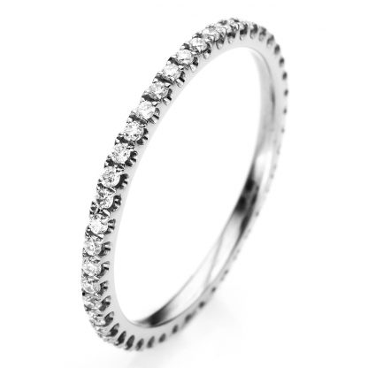 18 kt white gold eternity full with 27 diamonds 1A913W854-18