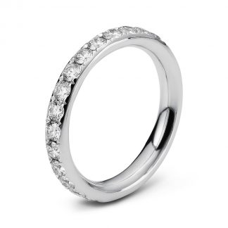 18 kt white gold eternity full with 28 diamonds 1C360W854-1
