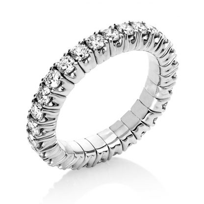 18 kt white gold eternity full with 28 diamonds 1N236W853-1