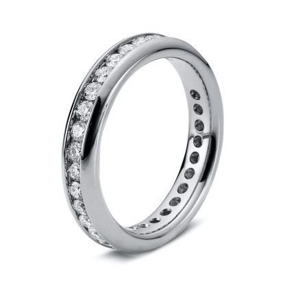 18 kt white gold eternity full with 32 diamonds 1B874W852-4