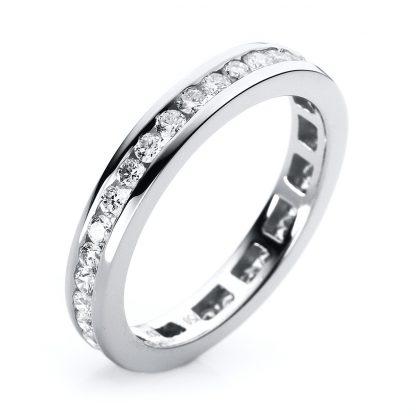 18 kt white gold eternity full with 32 diamonds 1C555W852-2