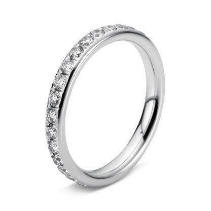 18 kt white gold eternity full with 34 diamonds 1C358W856-1