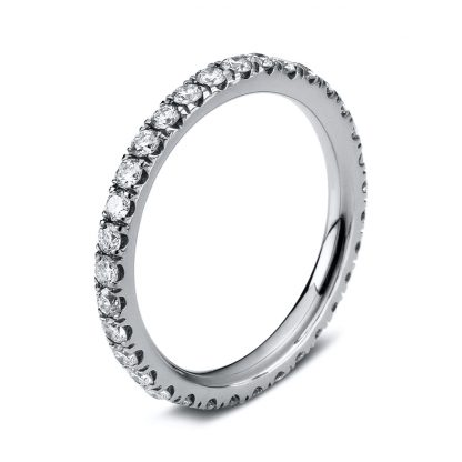 18 kt white gold eternity full with 35 diamonds 1B906W856-1