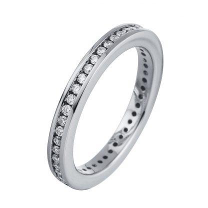 18 kt white gold eternity full with 46 diamonds 1C732W858-1