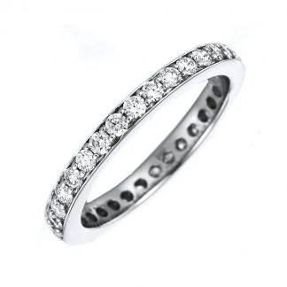 18 kt white gold eternity full with 52 diamonds 1B892W853-1