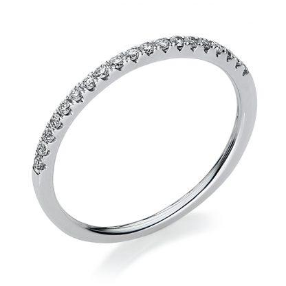 18 kt white gold eternity half with 14 diamonds 1B606W854-10
