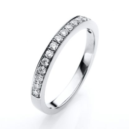18 kt white gold eternity half with 17 diamonds 1B390W853-2