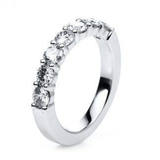 18 kt white gold eternity half with 7 diamonds 1C706W856-1
