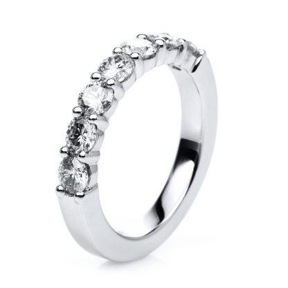 18 kt white gold eternity half with 7 diamonds 1C706W856-1