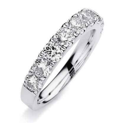 18 kt white gold eternity half with 9 diamonds 1B619W853-4