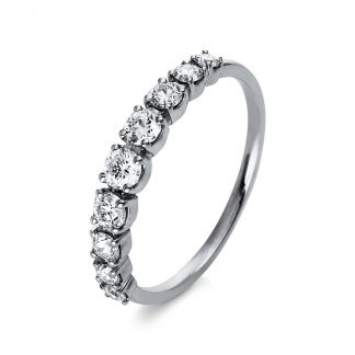 18 kt white gold eternity half with 9 diamonds 1R390W853-1