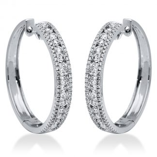 18 kt white gold hoops & huggies with 164 diamonds 2I170W8-1