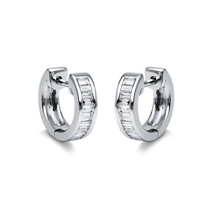 18 kt white gold hoops & huggies with 22 diamonds 2G775W8-2