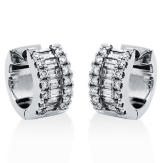 18 kt white gold hoops & huggies with 42 diamonds 2G820W8-1
