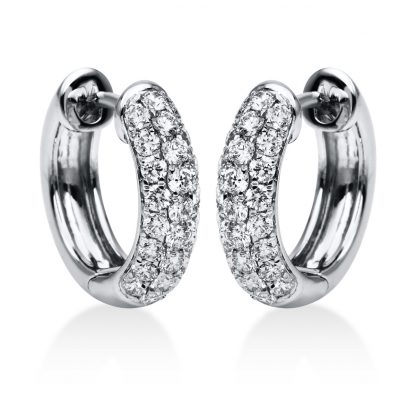 18 kt white gold hoops & huggies with 50 diamonds 2A066W8-4