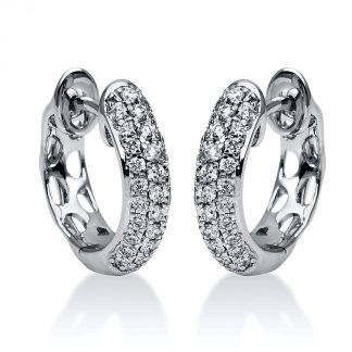 18 kt white gold hoops & huggies with 62 diamonds 2F051W8-1