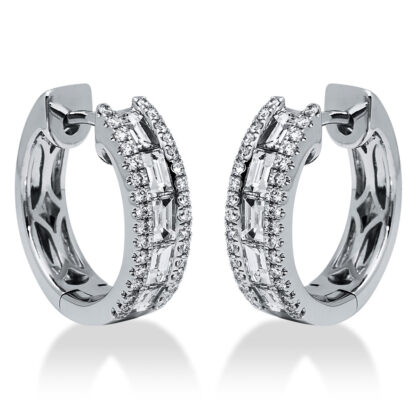 18 kt white gold hoops & huggies with 74 diamonds 2I206W8-1