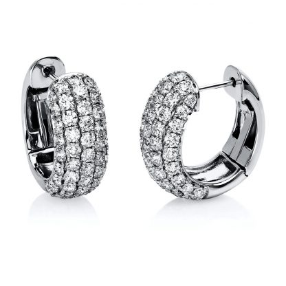 18 kt white gold hoops & huggies with 98 diamonds 2E552W8-1