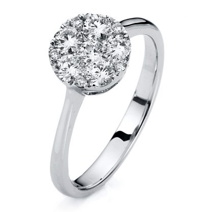 18 kt white gold illusion with 11 diamonds 1A805W854-1