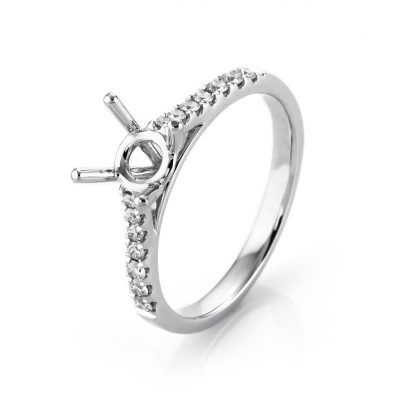 18 kt white gold mounting with 14 diamonds 1D680W854-4