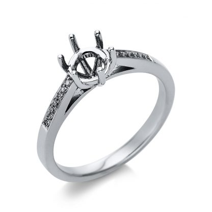 18 kt white gold mounting with 14 diamonds 1T500W853-1