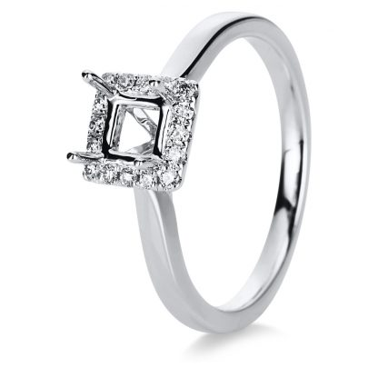 18 kt white gold mounting with 16 diamonds 1D245W853-1