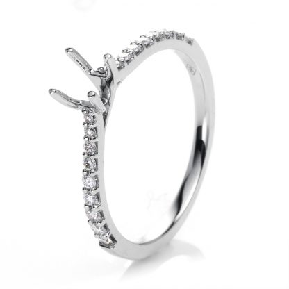 18 kt white gold mounting with 16 diamonds 1D763W853-2
