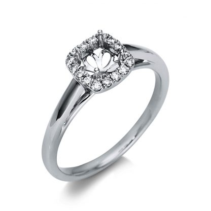 18 kt white gold mounting with 16 diamonds 1T167W854-1