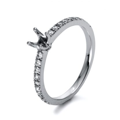 18 kt white gold mounting with 18 diamonds 1P433W854-1