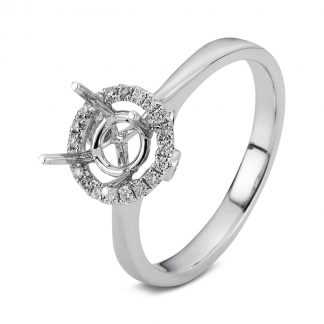18 kt white gold mounting with 22 diamonds 1D229W854-1
