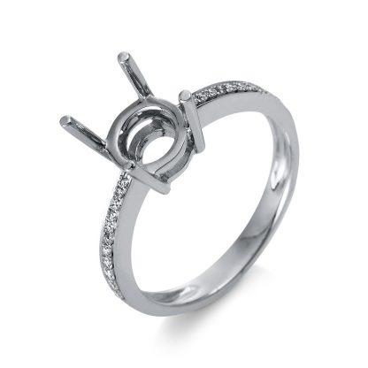 18 kt white gold mounting with 22 diamonds 1D332W853-1