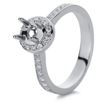 18 kt white gold mounting with 28 diamonds 1A880W854-2