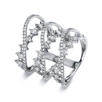 18 kt white gold multi stone with 120 diamonds 1S369W852-1
