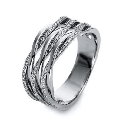 18 kt white gold multi stone with 123 diamonds 1O529W855-1