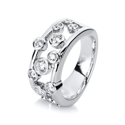 18 kt white gold multi stone with 13 diamonds 1D084W857-1