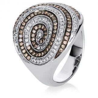 18 kt white gold multi stone with 184 diamonds 1A009W856-1