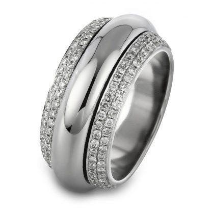 18 kt white gold multi stone with 204 diamonds 1A716W856-5
