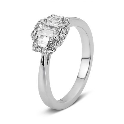 18 kt white gold multi stone with 27 diamonds 1A156W854-2