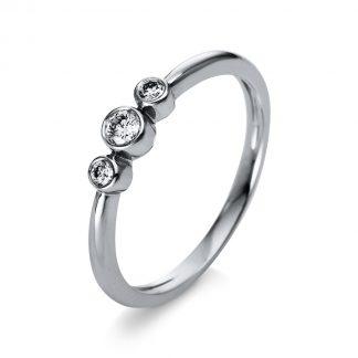 18 kt white gold multi stone with 3 diamonds 1S034W854-1