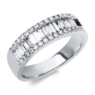 18 kt white gold multi stone with 45 diamonds 1A020W853-6