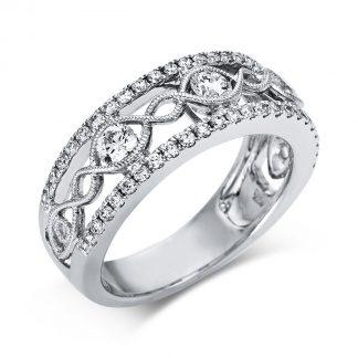 18 kt white gold multi stone with 49 diamonds 1S636W853-1