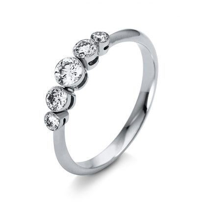 18 kt white gold multi stone with 5 diamonds 1O221W853-4