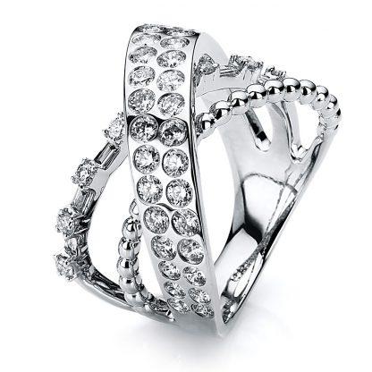 18 kt white gold multi stone with 51 diamonds 1B583W853-1
