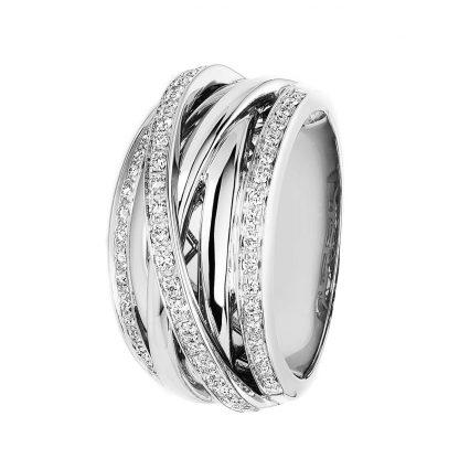 18 kt white gold multi stone with 58 diamonds 1C472W854-1
