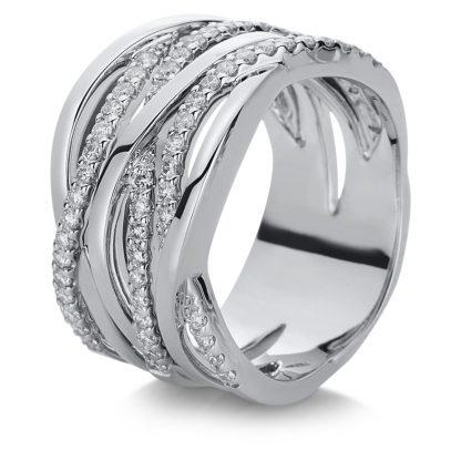 18 kt white gold multi stone with 60 diamonds 1C008W854-1