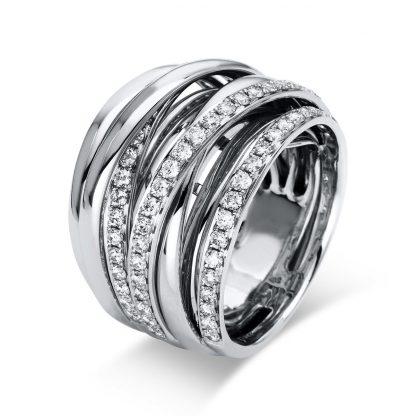 18 kt white gold multi stone with 66 diamonds 1B383W855-1