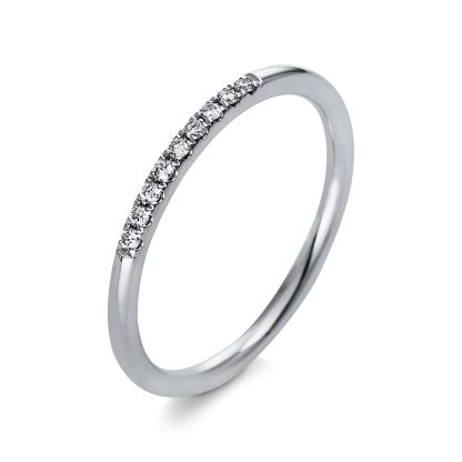 18 kt white gold multi stone with 9 diamonds 1Q767W854-1