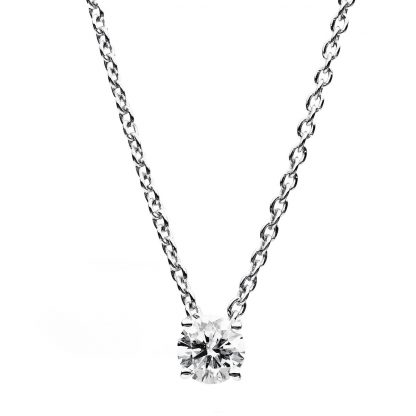 18 kt white gold necklace with 1 diamond 4B078W8-2