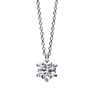 18 kt white gold necklace with 1 diamond 4D701W8-6